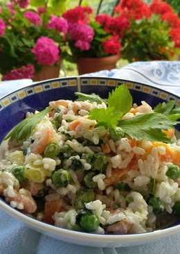 Σαλάτα με ρύζι γαρίδες και λαχανικά