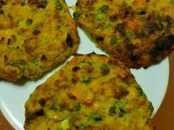Μπιφτέκια λαχανικών φούρνου χωρίς λάδι