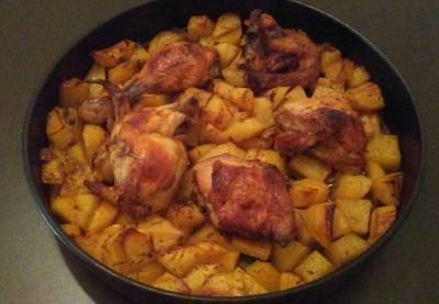 Κοτόπουλο με πατάτες μέλι!