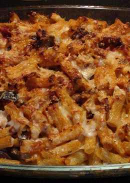 Ζυμαρικά στο φούρνο με μελιτζάνες και τυριά🍝🍆