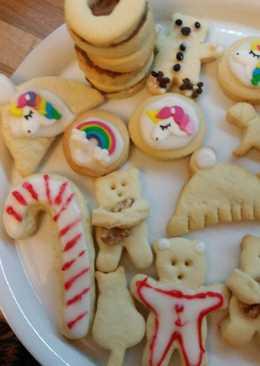 Γλάσο λευκό για μπισκότα ή κέικ