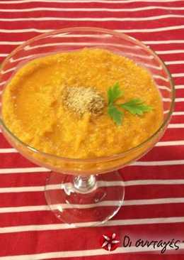 Σούπα βελουτέ με φυστικοβούτυρο