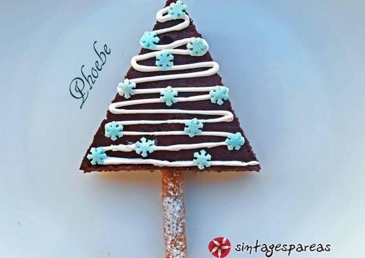 Χριστουγεννιάτικα δεντράκια από brownies
