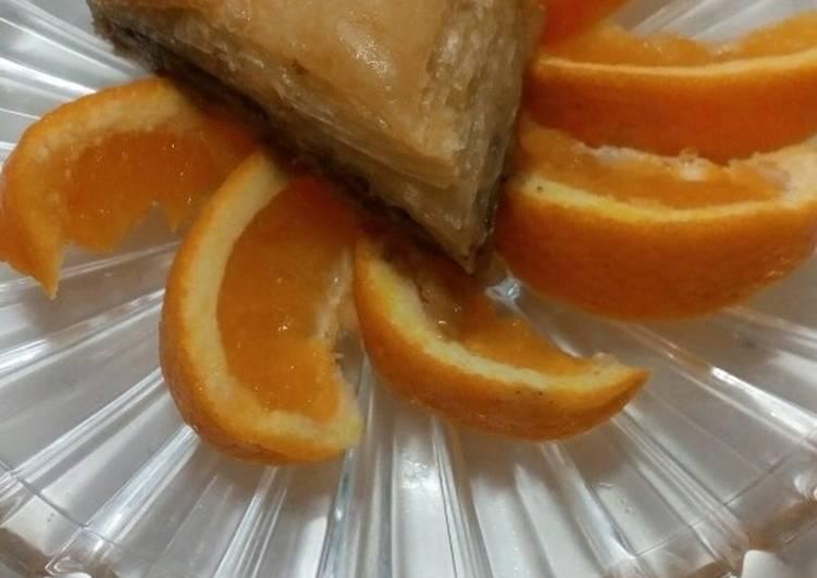 Μπακλαβάς με σοκολάτα και πορτοκάλι 🍊🍫