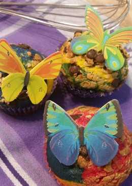 Ανοιξιάτικα πολύχρωμα muffins made by Danai! !