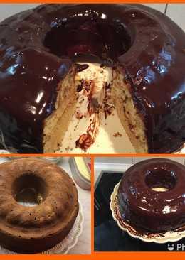 Κέικ βανίλιας με γλάσο σοκολάτας Αντώνης
