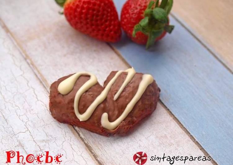 Σοκολατένιες φράουλες καρδούλα