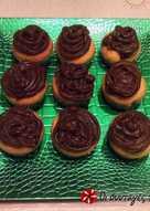 Cupcakes με πορτοκάλι και σοκολατένια βουτυρόκρεμα