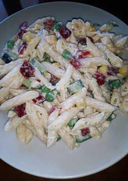 Φανταστική σαλάτα ζυμαρικών με τυρί κρέμα