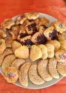 Μπισκότα με κανέλα, σοκολάτα, σουσάμι και τρούφα