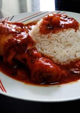 Αρωματικό κοκκινιστό κοτόπουλο με ρύζι!