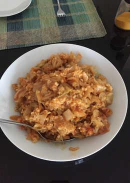Λάχανο τουρσί με ρύζι στο φούρνο