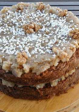 Κέικ κουβερτούρα με γλάσο ινδοκάρυδο