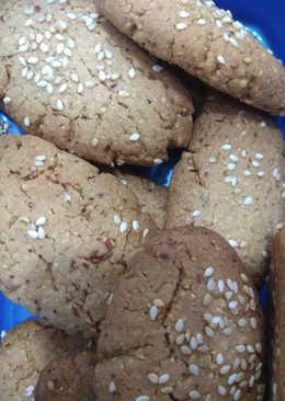 Νηστίσιμα τραγανά μπισκότα με αλεσμένο αμύγδαλο
