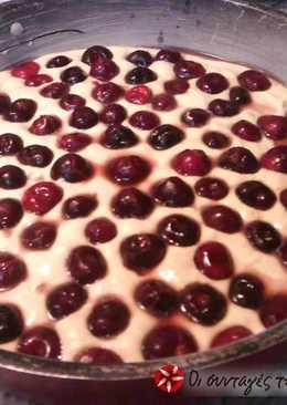 Κερασόπιτα κέικ με τραγανή κρούστα