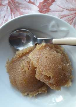 Χαλβάς με καστανή ζάχαρη και κανελάδα