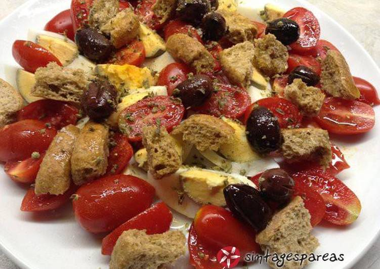 Αυγά σαλάτα με ταπεραμέντο μεσογειακό