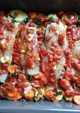 Φιλετάκια μπακαλιάρου και σπανάκι στο φούρνο