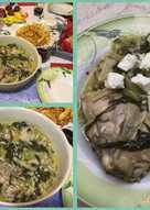 Φρικασέ κοτόπουλο με μαρούλια με αυγολέμονο (πασχαλινό) Αντώνης