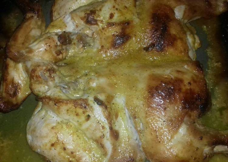Κοτόπουλο ανοιχτό στο φούρνο