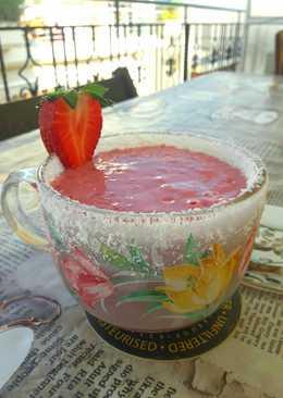 Protein shake φράουλα, καρύδα, μπισκότο