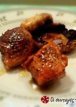 Εύκολο χοιρινό με μανιτάρια στο φούρνο