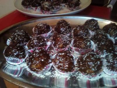 Σοκολατάκια από περίσσευμα κέικ