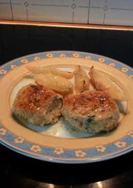 Μπιφτέκια με ανάμικτο κιμά από κοτόπουλο-γαλοπούλα και πληγούρι