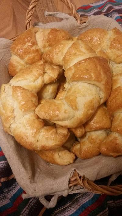 Κρουασάν (Croissant) με 4 υλικά!!!!