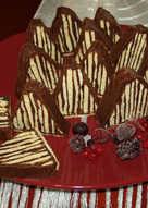 Πυραμιδάκια σοκολάτας