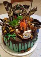 Τούρτα σοκολάτας με θέμα τους Δεινόσαυρους