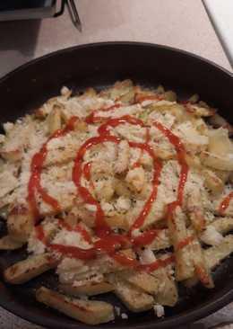 Λαχταριστές πατάτες (σαν τηγανητές) στο φούρνο με τυρί