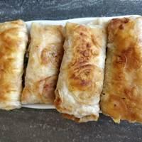 Быстрые пирожки из лаваша с картошкой и луком