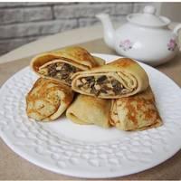Блины с грибной начинкой и яйцами (рецепт для гурманов)