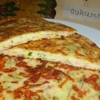 Сконы (сырные лепешки) с ветчиной