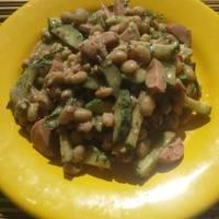 Салат с фасолью или «Что нашла в холодильнике»😉 #LerikaFood