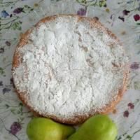 Шарлотка яблочная с манкой