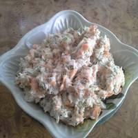 Салат из рыбы с морковью «Раковые шейки»