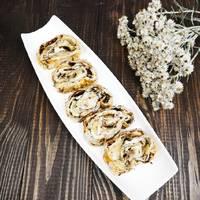 Пирог «Улитка» с творогом и бананом