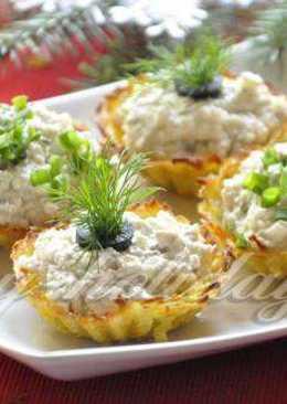 Картофельные тарталетки с форшмаком