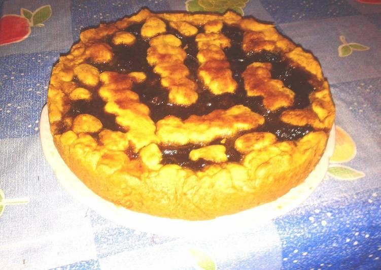 Ленивый пирог с вареньем