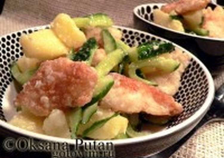 Салат из рыбы с хреном