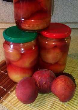 Персики и нектарины половинками в сиропе на зиму