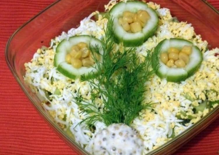 знакомство мяса салат крабового из