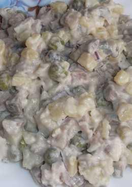 Салат-гарнир из сельди