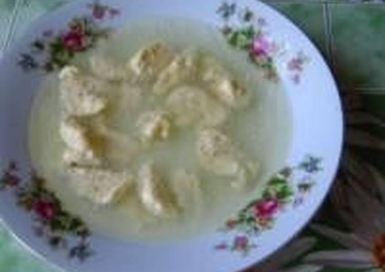 Куриный бульон с сырными клецками 2