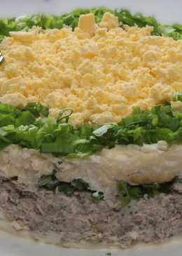 """Салат-торт """"Праздничный"""". Самый вкусный салат на новогоднем столе"""