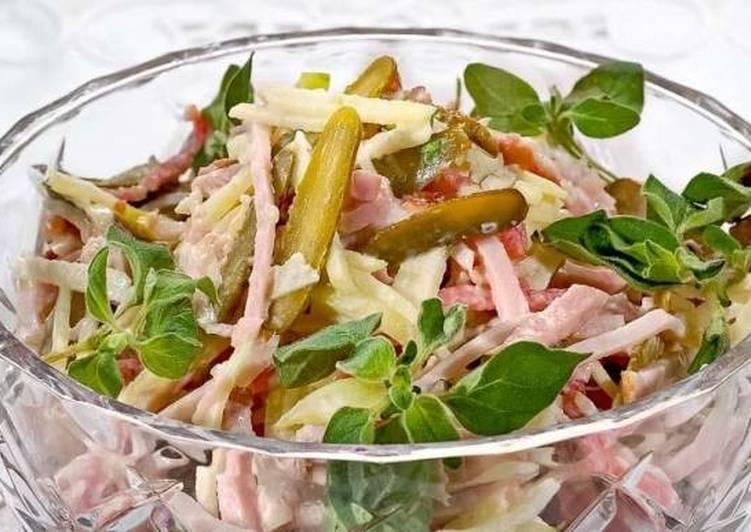 Новогодний салат по-швейцарски