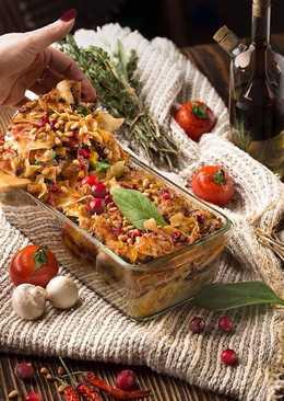 Постная овощная лазанья с брусникой и кедровыми орешками...#кулинарныймарафон