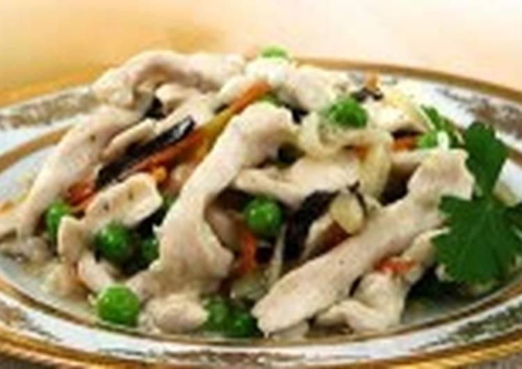 Куриная лапша с овощной смесью
